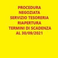 INDIVIDUAZIONE DEGLI OPERATORI ECONOMICI DA INVITARE ALLA PROCEDURA NEGOZIATA PER LA CONCESSIONE DEL SERVIZIO DI TESORERIA DEL COMUNE DI LORETO APRUTINO PER IL PERIODO 01.01.2022 – 31.12.2026 -- AVVISO DI RIAPERTURA TERMINI DI SCADENZA AL 30/09/2021